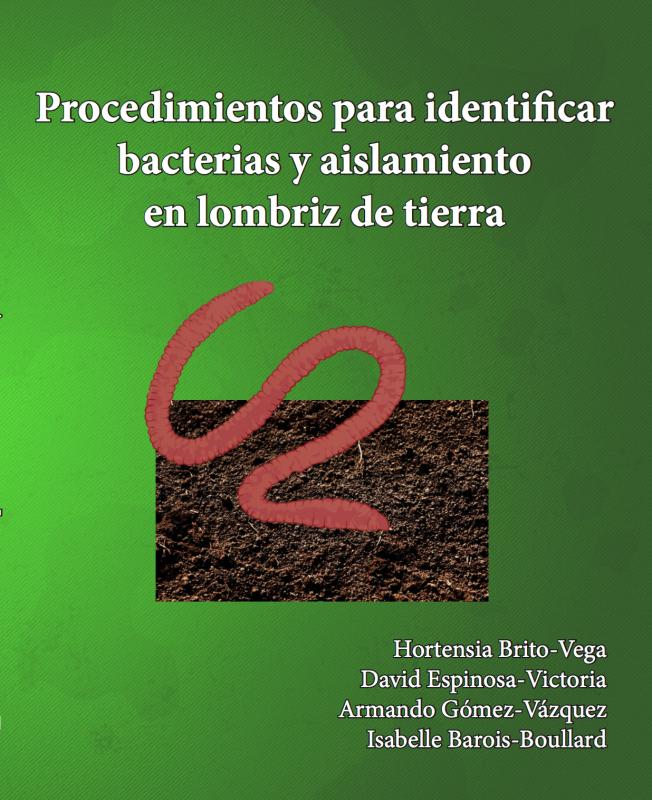 Cubierta para Procedimientos para identificar bacterias y aislamiento en lombriz de tierra