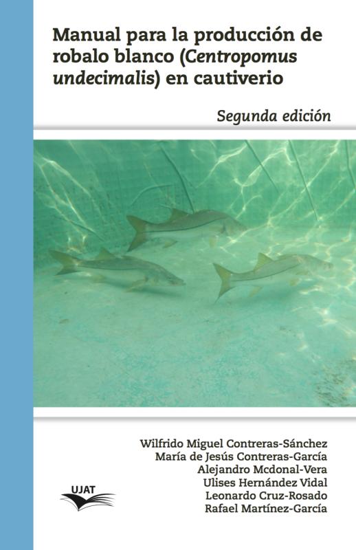 Cubierta para Manual para la producción de robalo blanco: (Centropomus undecimalis) en cautiverio